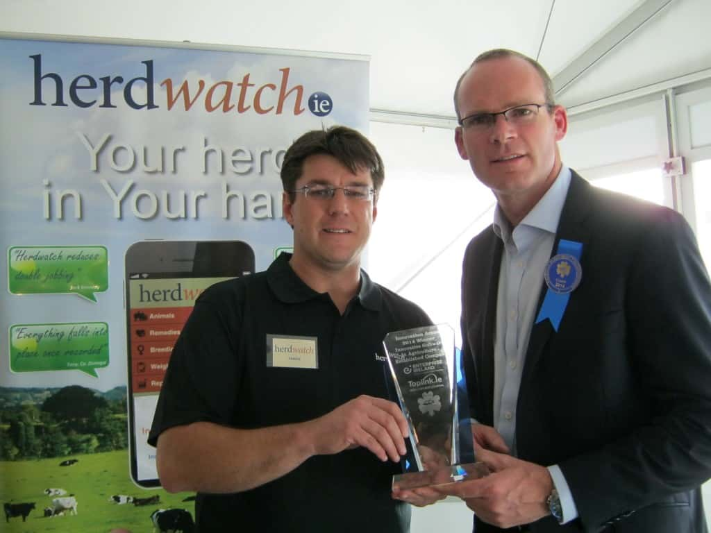 Herdwatch Fabien Peyaud with Minister Coveney