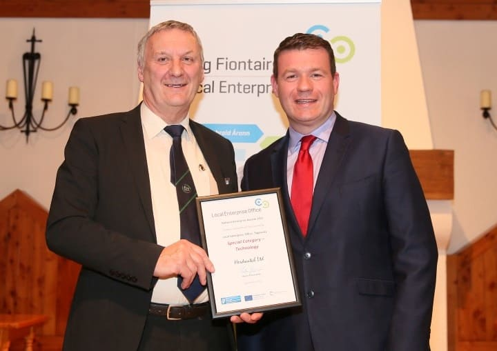 Peter Byrne Minister Alan Kelly Tipperary Technology Award March 2015
